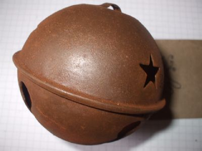 Rusty Tin Large Jingle Bell 80mm